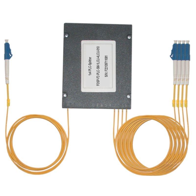 Fiber Optic PLC Splitter LC/PC - 4x LC/PC