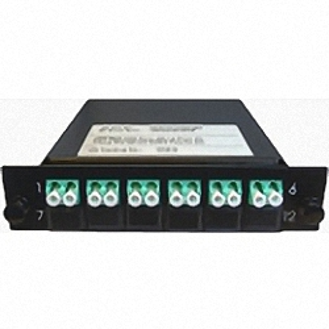 Cassette LGX-Style mit 1 Adapter MTP(Male) auf 6 Adapter LC/PC, Duplex, Multimode OM3
