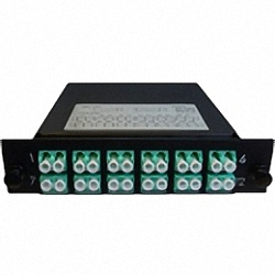 Cassette LGX-Style with 2 adaptor MTP(male) to 12 adaptors LC/PC,Dduplex, Multimode OM3