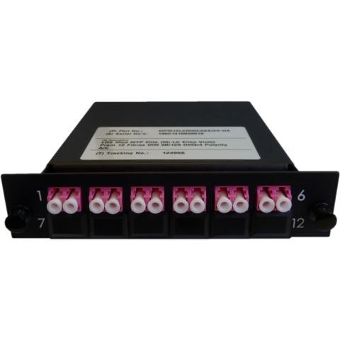 Cassette LGX-Style mit 1 Adapter MTP(Male) auf 6 Adapter LC/PC, Duplex, Multimode OM4