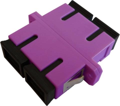 Fiber Adaptor SC/PC, Duplex, Multi-mode OM4