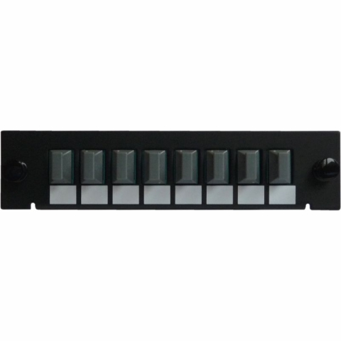 Adapterplatte LGX-Style mit 8 Adaptern MTP Key up/down, Simplex, Multimode OM3