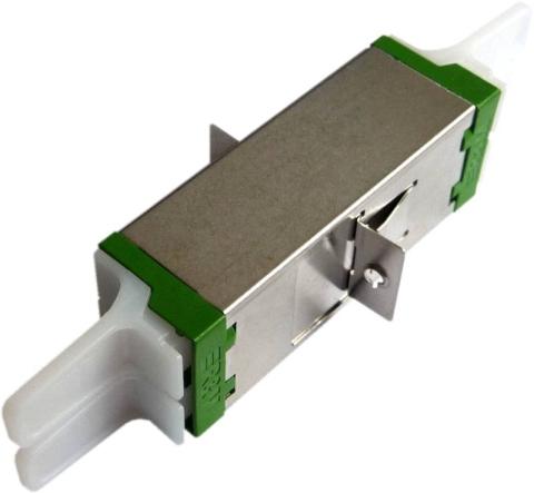 Reichle & De-Massari Fiber Adaptor E2000/APC, Duplex, Single-mode