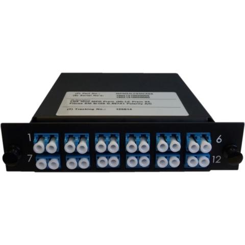 Cassette LGX-Style with2 adaptor MTP(male) to 12 adaptors LC/PC, Duplex, Singlemode