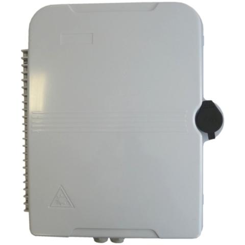 Abschließbare Wand-Box für den Innen- und Außenbereich für bis zu 24 Adapter