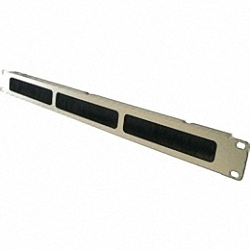 19 inch Rack Cover with Brush Strip, grey