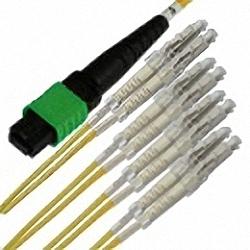MTP/MPO Fan-Out Cable OS2 8-Core MTP(Female) to 4x Duplex LC/PC, Premium Elite