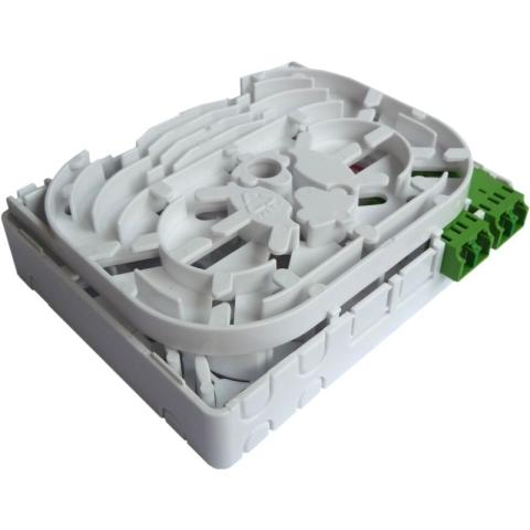 FTTH Wallbox with LC/APC shutter adaptors