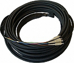 FO Breakout Indoor Installation Cable OM3, 4-Core, LC/PC-LC/PC with Protection and Pulling-Eyes
