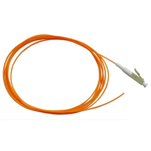 Fiber Pigtail, OM2 50/125µm, LC/PC, orange 1m