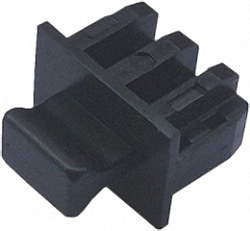 Dust Covers for unused SFP/SFP+ Slots, with Handle, 100pcs. Bulk Pack