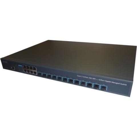 XGS-6350-12X8TR GE Switch 8x RJ45, 12x 1G/10G SFP+ Port