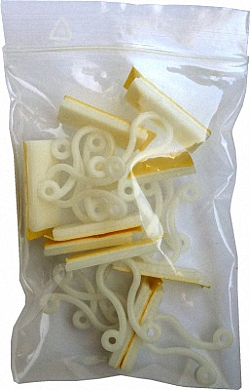 Self adhesive Cable Clips Twist Lock, 10 pcs