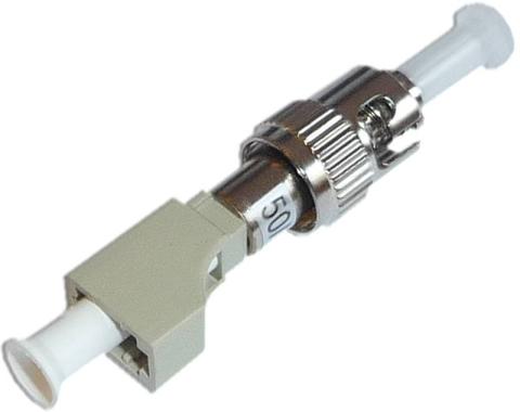 Fiber Adaptor LC/PC female - ST/PC male, Simplex, Multi-mode