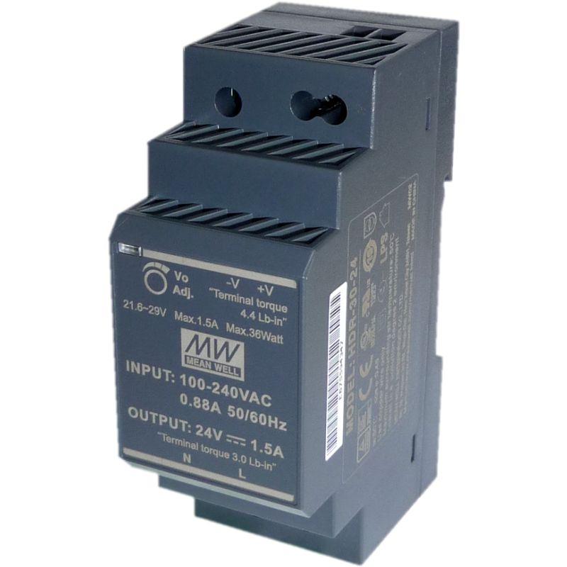 HDR-30-24 DIN-Rail Power supply 24V DC 36W