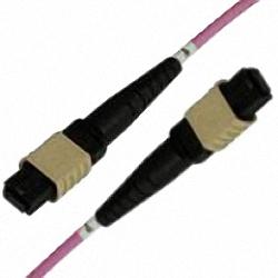 MTP/MPO Trunk-Kabel OM3 12-Core MTP(Female) zu MTP(Female), Polarit?t Typ A, NON-ELITE!, aqua, 5 m