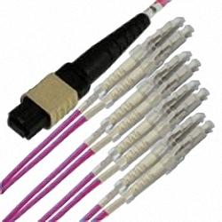 MTP/MPO Fanout-Kabel OM4 8-Core MTP(Female) auf 4x Duplex LC/PC, Premium Elite