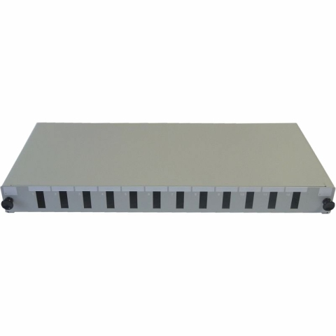 19 inch Sliding Patch Panel for up to 12 Adaptors SC duplex / LC quad