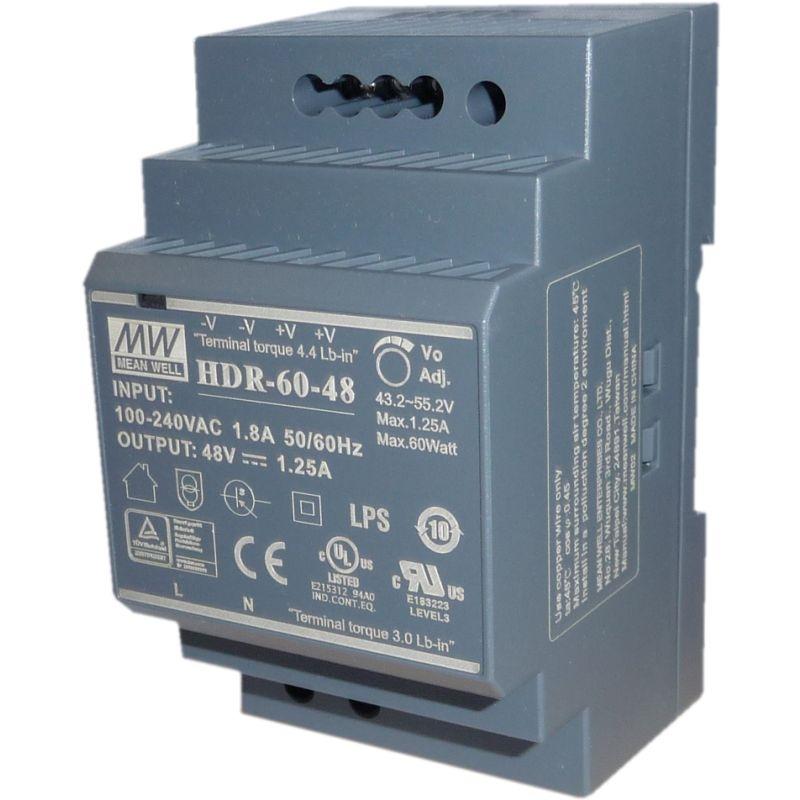 HDR-60-48 Hutschienen Schaltnetzteil 48V DC 60W