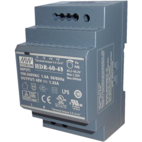 HDR-60-48 DIN-Rail Power supply 48V DC 60W