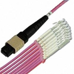 MTP/MPO Fanout-Kabel OM4 12-Core MTP(Female) auf 12x Simplex LC/PC, Premium Elite