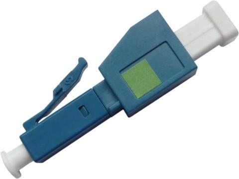 Fiber Adaptor LC/APC male - LC/PC female, Simplex, Single-mode