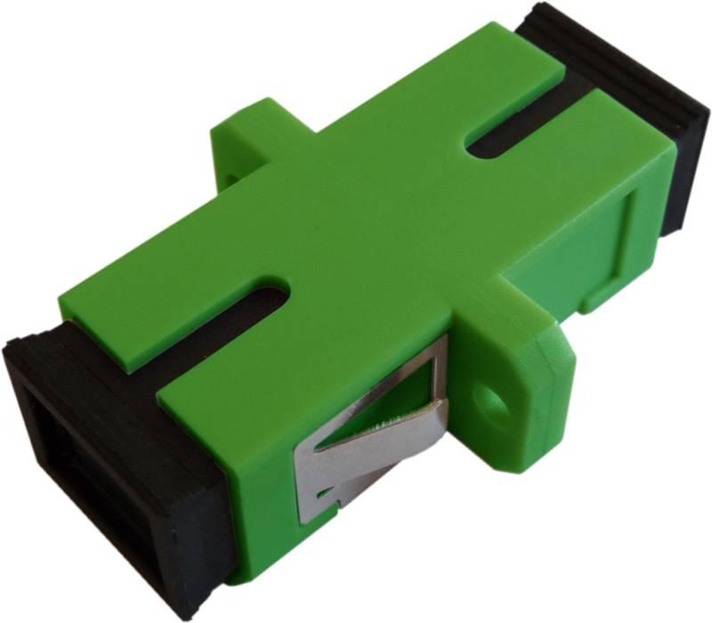 Fiber Adaptor SC/APC, Simplex, Single-mode