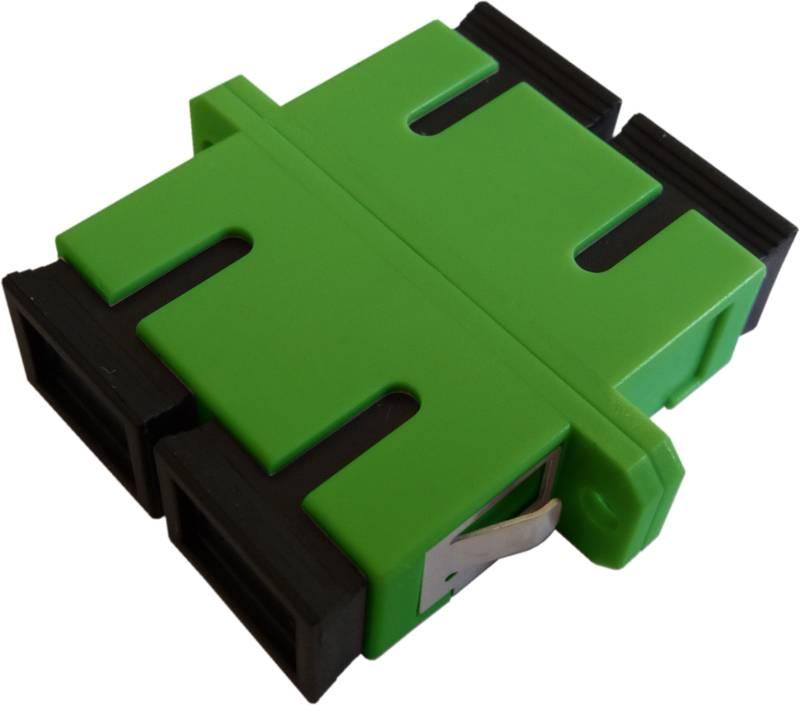 Fiber Adaptor SC/APC, Duplex, Single-mode