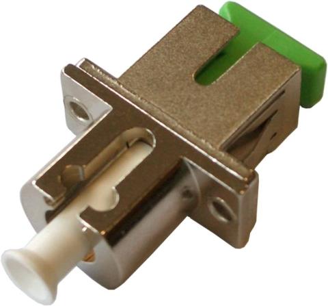 Fiber Adaptor LC/APC-SC/APC, Simplex, Single-mode