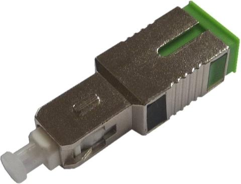 Fiber Adaptor SC/PC male - SC/APC female, Simplex, Single-mode
