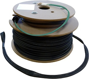 FO Loose Tube Outdoor Installation Cable OM3, 24-Core, LC/PC with Rodent Protection and Pulling-Eyes