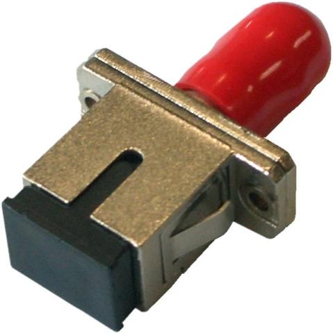 Fiber Adaptor SC/PC - ST/PC, Simplex, Single-mode/Multi-mode