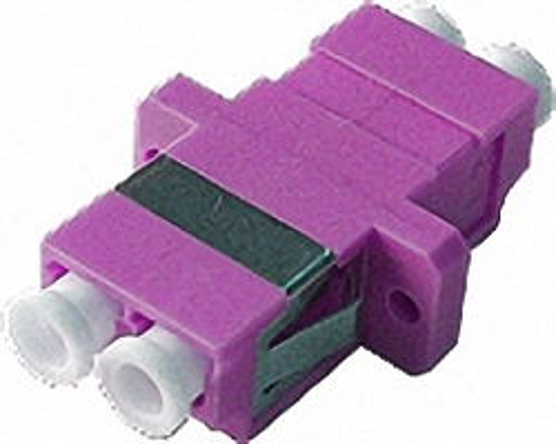 Fiber Adaptor LC/PC, Duplex, Multi-mode OM4 for Patch Panels