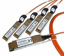 Juniper QFX compatible QSFP+ to 4x SFP+ Fan-Out AOC Active optical Cable