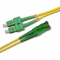 Fiber Optic Patch Cable Single-mode, Duplex, SC/APC-E2000/APC