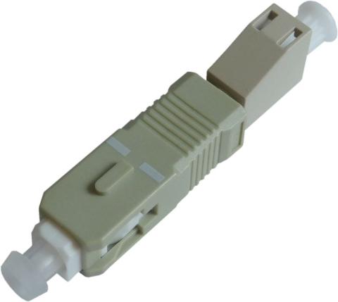 Fiber Adaptor LC/PC female - SC/PC male, Simplex, Multi-mode