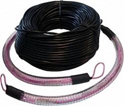 LWL Verlegekabel OM4, 8 Adern, SC/PC-SC/PC mit Kabelschutz und Einzughilfen