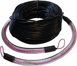 Fiber Optic Installation Cable OM4, 8-Core, SC/PC-SC/PC with Protection and Pulling-Eyes