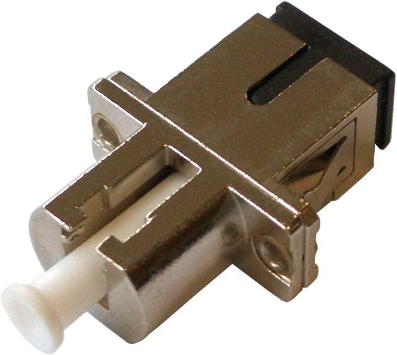 Fiber Adaptor LC/PC-SC/PC, Simplex, Single-mode/Multi-mode