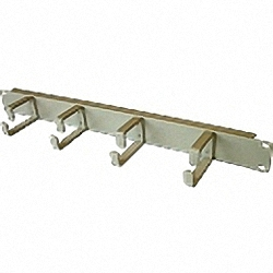 19 inch Cable Management Bar with 4 fixed metal hooks