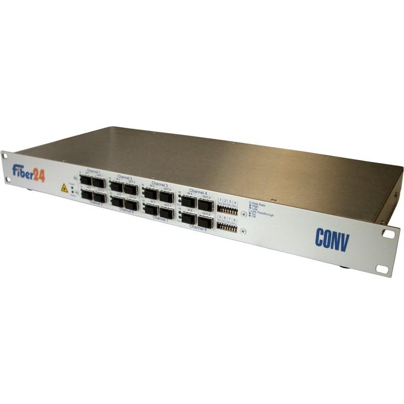 SFP/SFP+ 8-Kanal Konverter für bis zu 10Gbps