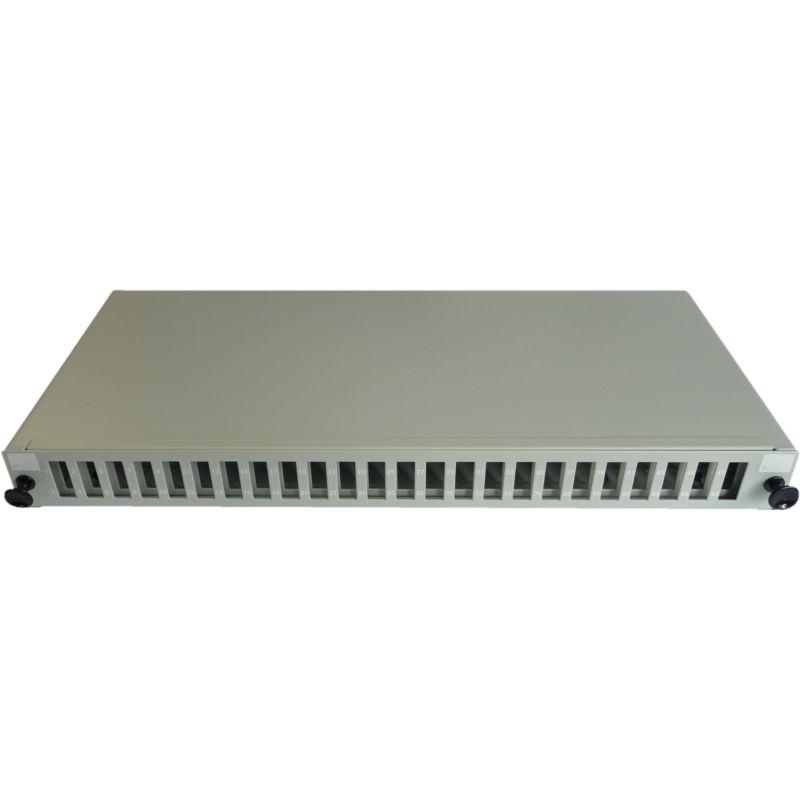 19 Zoll Patchfeld für bis zu 24 Adapter SC duplex / LC quad, ausziehbar