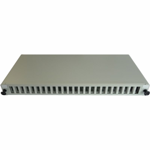 19 inch Sliding Patch Panel for up to 24 Adaptors SC...