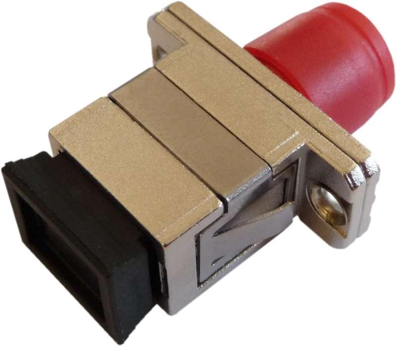 Fiber Adaptor SC/PC - FC/PC, Simplex, Single-mode/Multi-mode