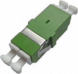 Fiber Adaptor LC/APC, Duplex, Single-mode with inner shutter for wall boxes