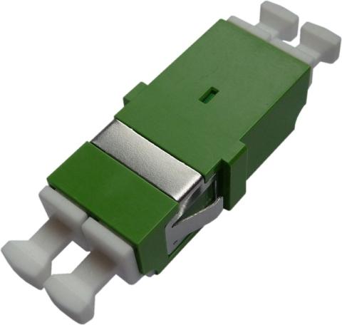 LWL-Adapter LC/APC, Duplex, Singlemode mit Inner-Shutter für Wandboxen