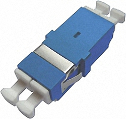 Fiber Adaptor LC/PC, Duplex, Single-mode with inner shutter for wall boxes