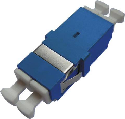 LWL-Adapter LC/PC, Duplex, Singlemode mit Inner-Shutter für Wandboxen