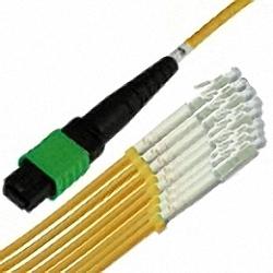 MTP/MPO Fanout-Kabel OS2 12-Core MTP(Female) auf 12x simplex LC/PC, Premium Elite
