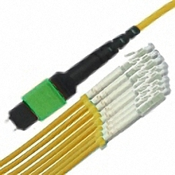 MTP/MPO Fan-Out Cable OS2 12-Core MTP(Male) to 12x simplex LC/PC, Premium Elite